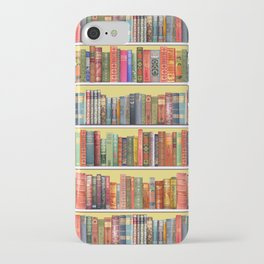 Christmas books antique vintage library iPhone Case