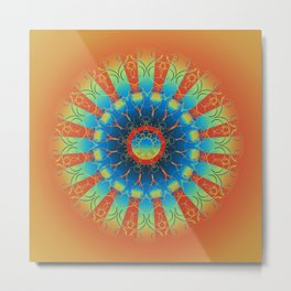 Earth Angel Mandala Metal Print