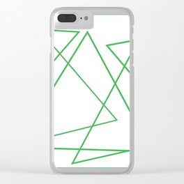 White & Green Clear iPhone Case
