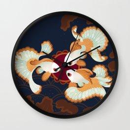 Three tosakin goldfish Wall Clock
