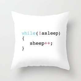 Sleep Throw Pillow