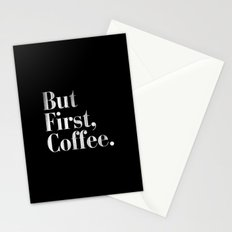 But First, Coffee Vintage Typography Print Stationery Cards