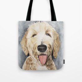 Goldendoodle Watercolor Tote Bag