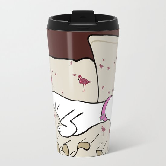 Dog In A Pile of Blankets Travel Mug