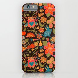 Funny khokhloma pattern iPhone Case