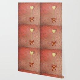 beautiful heart on texture kaleidoscope Wallpaper