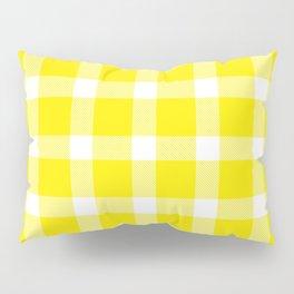 Plaid Canary Yellow Pillow Sham
