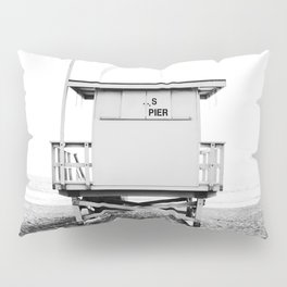 Beach Photography black and white print Pillow Sham