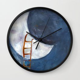 If I Could Rest on the Moon Wall Clock