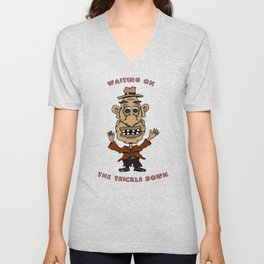 Waiting on the Trickle Down Unisex V-Neck