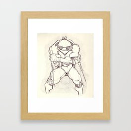 Red Turtle Power Framed Art Print