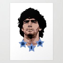 Maradona - D10 Art Print