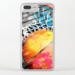 Basketball art swoosh vs 20 Clear iPhone Case