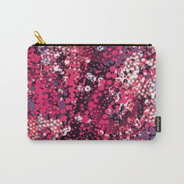 sparkling dots in red Carry-All Pouch