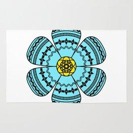 Hippie Geometric Flower Rug