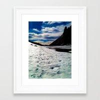 john snow Framed Art Prints featuring Snow Path by John Monastero