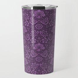 Damask in Purple Travel Mug