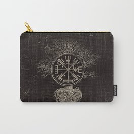 Vegvisir  and Tree of life  -Yggdrasil Carry-All Pouch