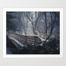 Central Park in the Snow Art Print