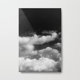 Clouds in black and white Metal Print