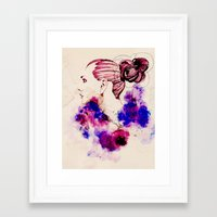 fashion illustration Framed Art Prints featuring Fashion Illustration by Octopus Soup