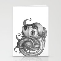 ram Stationery Cards featuring Ram by Tooth & Arrow Co