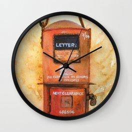 Vintage Postbox Wall Clock
