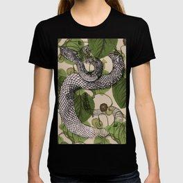 Snake in garden vine T-shirt