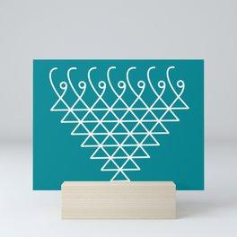 Sacred Geometry- Saraswati Yantra-4 Mini Art Print