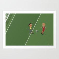 Robben's goal UCL Final Art Print
