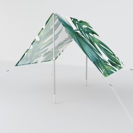 Classic Palm Leaves Tropical Jungle Green Sun Shade