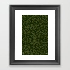 Comp Camouflage / Green Framed Art Print