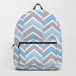 Blue Gray Chevron Tile Backpack