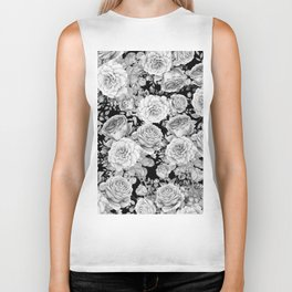 ROSES ON DARK BACKGROUND Biker Tank