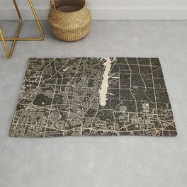 WESTERVILLE map Ohio Ink lines Rug