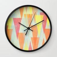 circus Wall Clocks featuring Circus by Menina Lisboa
