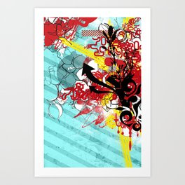 Kolor Kaos Art Print