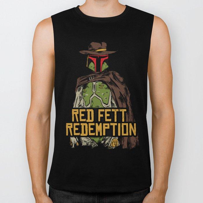 Red Fett Redemption Biker Tank