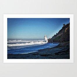 Waves, Oceanside, California Art Print