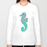 seahorse Long Sleeve T-shirts featuring SEAHORSE by Catspaws