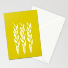 Growing Leaves: Golden Yellow  Stationery Cards