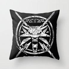 Wild White Wolf Throw Pillow