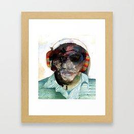 Small Self Portrait Framed Art Print