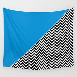 Chevron and Blue Wall Tapestry
