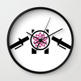 2-Wheeled Flower Power Wall Clock