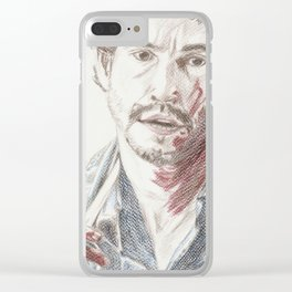 Bloody Will Graham, original colored pencil drawing Clear iPhone Case