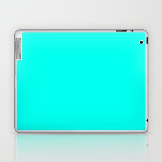 Turquoise blue Laptop & iPad Skin
