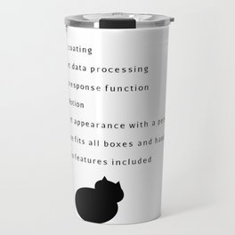 MiCAT cat art design - for cat lovers - with funny text Travel Mug