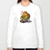 chibi Long Sleeve T-shirts featuring Chibi Michelangelo by Noodles ^7^