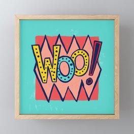 Woo! Framed Mini Art Print
